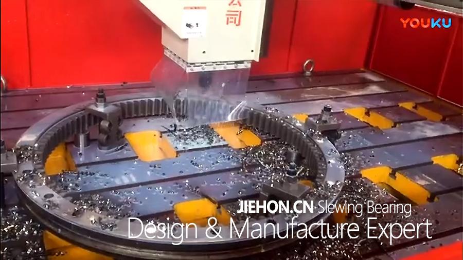 回转支承高速钻工作视频