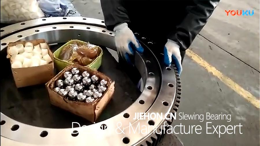 杰恒回转支承装配过程视频