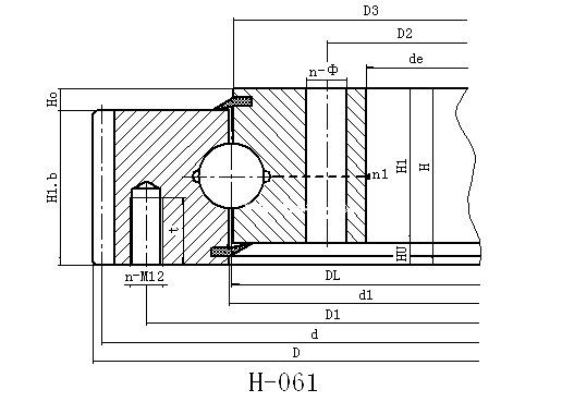 061系列外齿式轻薄型回转支承