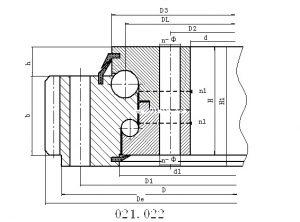 021,022系列外齿式双排球式回转支承